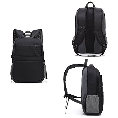 Business Laptop Backpack with USB Charging Port Waterproof Travel Anti Theft Daypack College Bag for Men and Women – Black