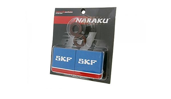 Kurbelwellenlager Satz Naraku Skf Metallkäfig Für Aprilia Sr 50 R Factory 05 Injection Auto