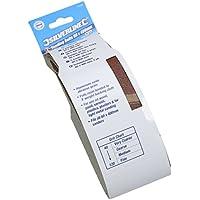 Silverline 635329 Bandas de Lija, 60 x 400 mm, Grano 80, Caja de 5
