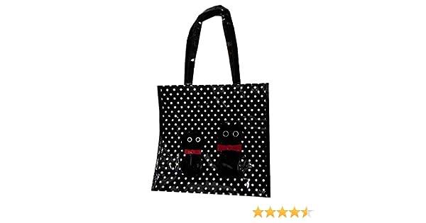 20bd77e368304 Lilium Borsa Shopper da Donna con Manici Pois e Gatti (32X30 H x 10)   Amazon.it  Scarpe e borse