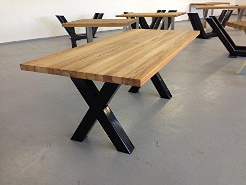 Tischgestell Stahl TUX800s Tischuntergestell Tischkufe Kufengestell 790mm breit Tischkreuz