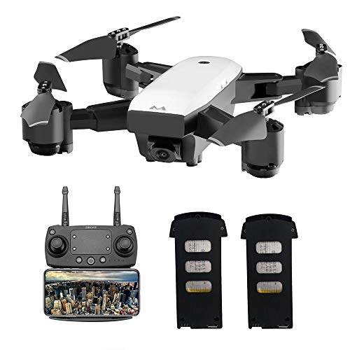 SMRC S20 5G GPS Drone with Camera 1080P HD WiFi FPV Live Transmission RC Quadrocopter Follow Me Mode 3D Flip Trajectory Flight Folding Drone for Beginners (Black)