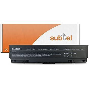 subtel® Batterie premium (4400mAh) pour Dell Inspiron 1520 / 1521 / 1720 / 1721 / Vostro 1500 / 1700 GK479 Batterie de rechange, ordinateur Accu remplacement