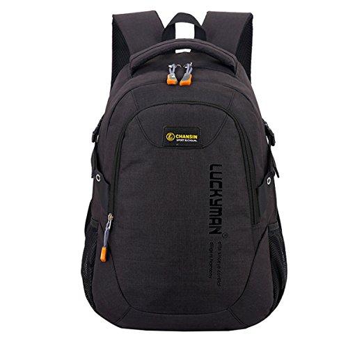 Super Modern Unisex-Schulrucksack aus Nylon, Laptoptasche für Teenager, ob Mädchen oder Jungen, cooler Sportrucksack, Reiserucksack für Männer und Frauen Größe L Schwarz