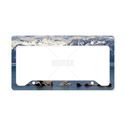 CafePress Kennzeichenhalter für Lake Tahoe, Standardgröße, Mehrfarbig (Plate Lake Frame License Tahoe)