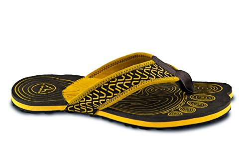 La Sportiva Herren Zehensandalen black-yellow