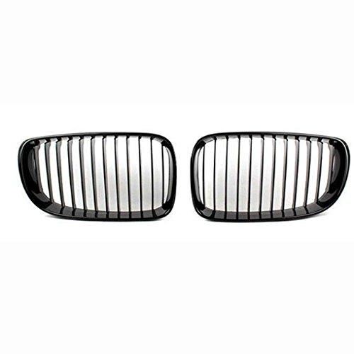 Floridivy 1 Paire ABS chromé Garniture Mesh Inserts Grille Couverture pour BMW 1 Série E81 E87 2008-2011 Accessoires Voiture