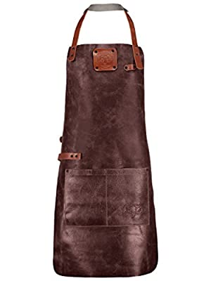 DNR Grill Schurze von richtiges Leder Handmade, Grill Apron Made from real Leather