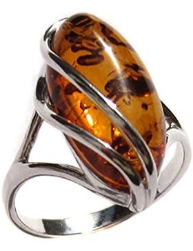 Damen-Ring Designer-Ring Sterling-Silber 925 Ostseebernstein Gr, 49, 52, 54, 56, 58, 60, 62, 64