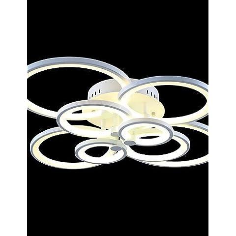 LYNDM-Mejor regalo de Navidad,LED 110W Flush mount /Remote Controller/ 8/ luces modernos y contemporáneos /Salón / Dormitorio / Metal y Acrílico blanco cálido ,-220-240v