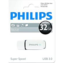 Philips FM32FD75B - Memoria USB 3.0 de 32 GB, color blanco