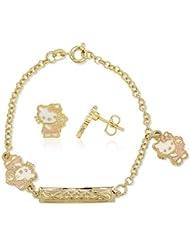 Bijoux Kids–Pulsera Gourmette pendientes de hello kitty Bijoux chapado en oro–tono oro
