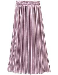 81b1e52818 CANDLLY Faldas de Fiesta Mujeres Elegante Faldas Lisas Faldas Cortas Falda  Plisada Vestidos Guapos Regalo de