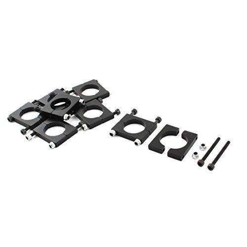 8Pcs 16mm Durchmesser Aluminiumklemmplatten-Klipp für Carbon-Faser-Rohr RC Acromodelle -