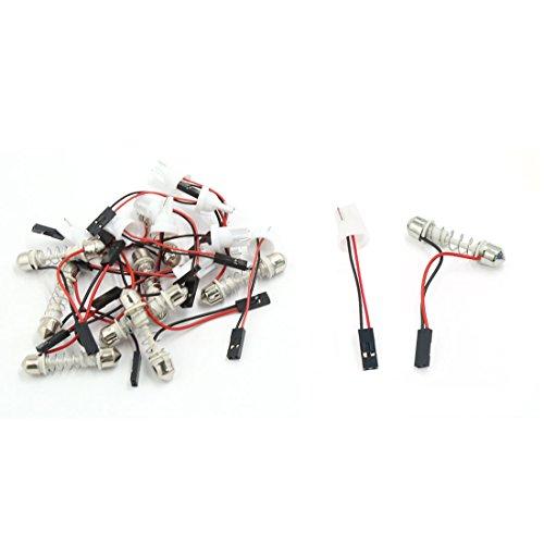 T10 Licht Birne (sourcing map 20 Stück 39mm Girlande Dome Adapter + T10 Birne Steckdose Stecker für Auto Licht de)