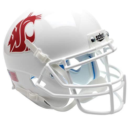Schutt NCAA Fußballhelm Washington, State Cougars, Mini Authentic XP, White Alt. 2, Einheitsgröße