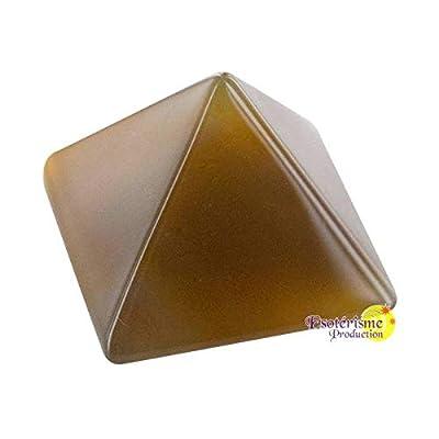 Pyramide cornaline chauffee - pièce 30 mm