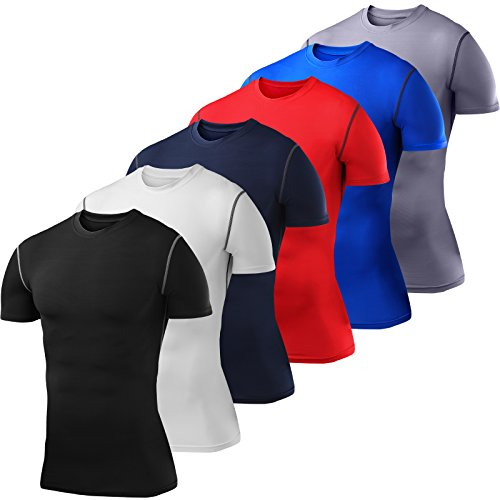 Mens PowerLayer Compression Base Layer / Baselayer Top Short Sleeve Under Shirt