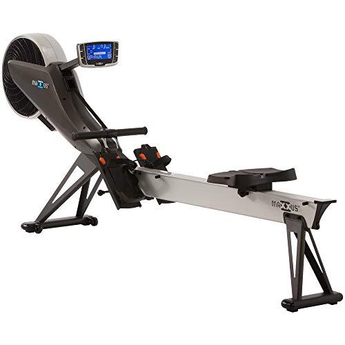 MAXXUS Studio Rudergerät 10.0, Luft- und Magnetantrieb, klappbar, platzsparend, Wettkampfsimulation, sehr leise