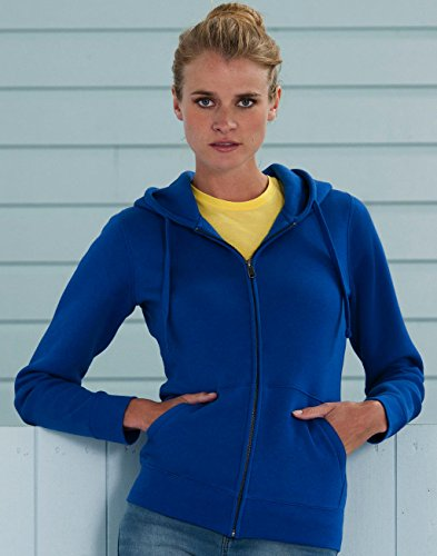 Z266F Damen Authentic Hooded Sweatjacke Sweatshirtjacke Jacke mit Kapuze, Größe:S;Farbe:Bright Royal