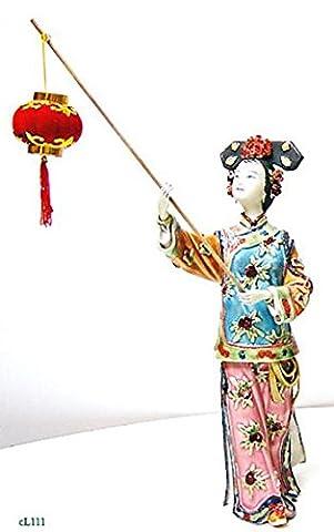 Qing Dynasty Chinese Concubine Ceramic / Porcelain Lady Figurine