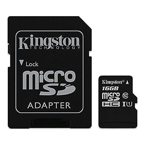 Kingston 128go - Kingston - SDC10G2 - Carte MicroSD -