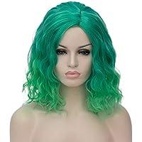 ATAYOU® Brevi Ricci Sintetici Ombre Parrucche Sintetiche per le Donne Con  un Berretto Parrucca Gratuito d531841720e
