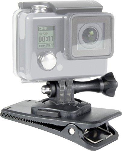 Speedlink Universale Action-Cam-Halterung - Clamp Mount for GoPro (mit Klemmbefestigung - Stativgewinde auf 360-Grad-Gelenk - Feststellmechanismus zur Fixierung der Action-Cam) schwarz