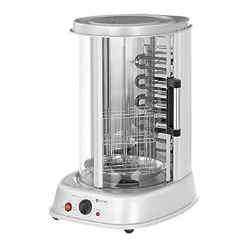 Royal Catering Rotissoire Verticale Professionnelle Grill Vertical Electrique RCGV-1800 (4-in-1, Puissance 1.800 W, Temperature jusqu'à 160 °C, Minuterie 60 min)