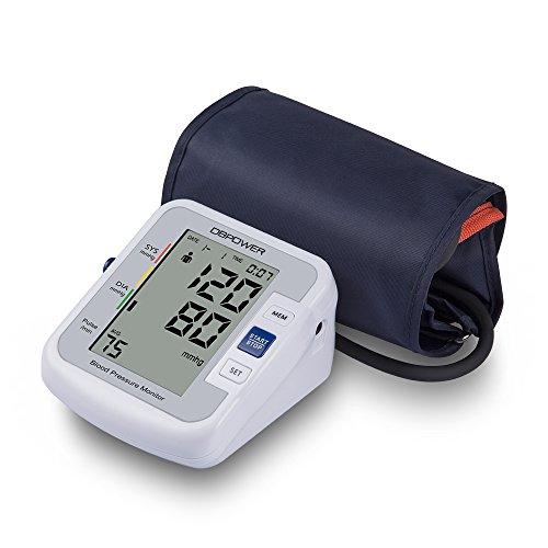 Digitales Oberarm Blutdruckmessgerät Meter IHB und WHO Indikator 90x2 Speicher für 2 Nutzer FDA CE Blutdruckmessgerät (Armband 22cm-42cm)