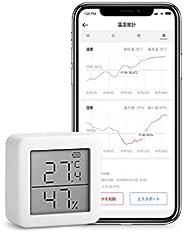 SwitchBot Termómetro Higrómetro Sensor de Temperatura y Humedad con Alertas, para Cigarros y Guitarra Humidor,