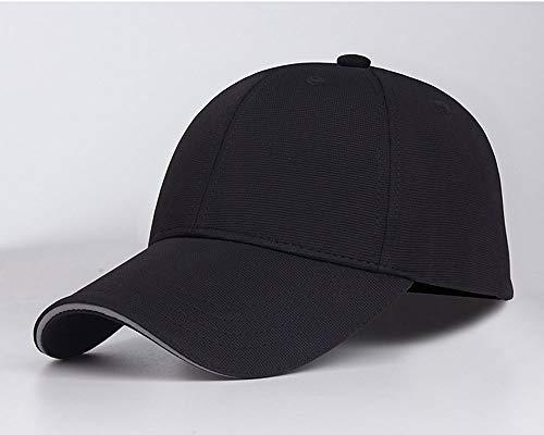 LMJ Outsider Einfarbige Baseballkappe, Frühling und Sommer Sandwich Hut Beistelltisch 3D Stereo reflektierende Kappe kann Größe angepasst Werden,Schwarz -