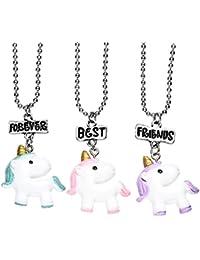 ONNEA BFF Best Friends Resina Dijes Collares Amistad para 2 Niñas