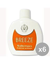 BREEZE Set 6 Deodorant Squeeze Mediterranee 100 Ml. Soin Du Corps