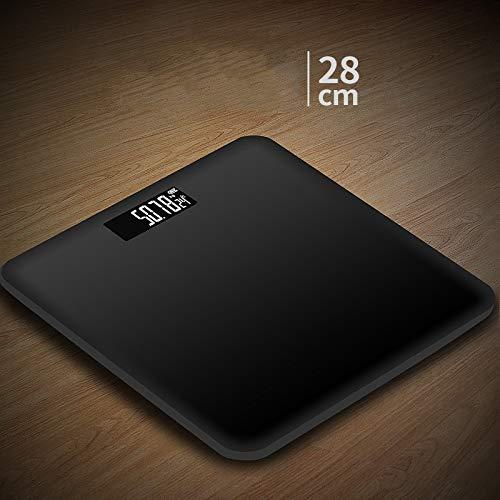 Hongge Bilancia Pesapersone Digitale, Bilancia Digitale da Bagno Bilancia in Vetro Tecnologia Step-On Display LCD 180 kg
