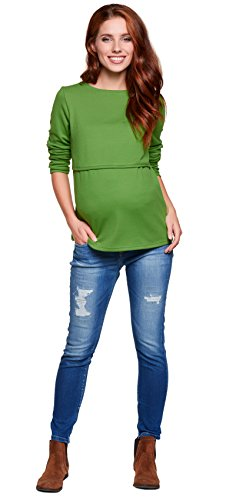 Be! Mama - Pull - Col Rond - Manches Longues - Femme Vert
