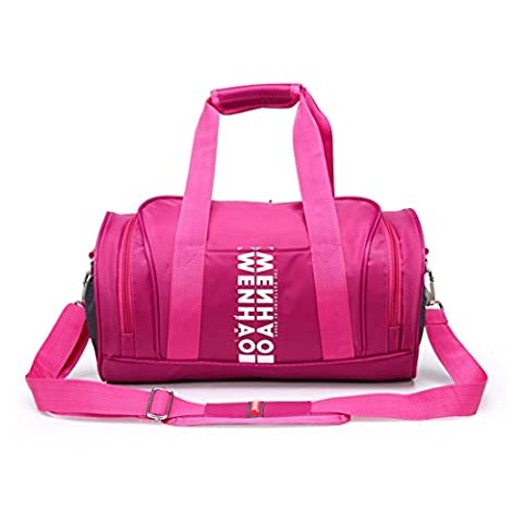 iTECHOR Wenhao Frauen große Kapazitäts-wasserdichte Nylon Zylinder Tote Handtasche Umhängetasche Tasche Gym Sporttasche - (Oilily Kindertasche)
