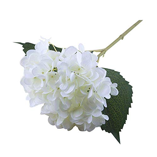 CWeep Decoration Faux Hydrangea Flowers, Artificial/Fake Hydrangea Flowers Fake Silk Bouquet Flower Wedding Arch Flowers,Home Decoration White