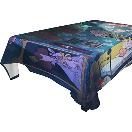 ation Alice im Wunderland Tischdecken für rechteckige Tischdecke aus Polyester für Hochzeit, Bankett, Restaurant, 137 x 137 cm, Polyester, Alice in Wonderland, 60x108(in) ()