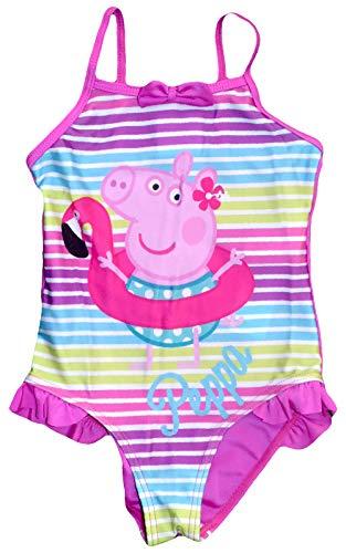 Kostüm Peppa Kid Pig - Peppa Pig Girls Schwimmen Kostüm (7/8 Jahre, Rosa)