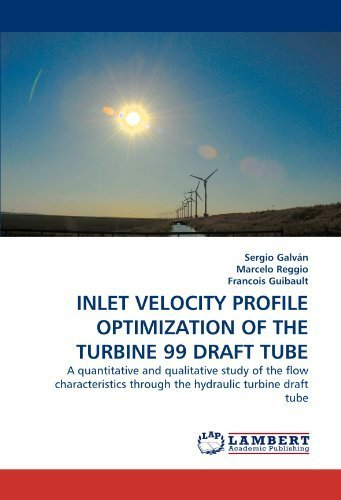 INLET VELOCITY PROFILE OPTIMIZATION OF THE TURBINE 99 DRAFT TUBE: A quantitative and qualitative study of the flow characteristics through the hydraulic turbine draft tube by Galvn, Sergio, Reggio, Marcelo, Guibault, Francois (2010) Paperback