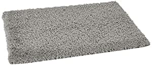 Amazon Brand - Solimo Premium Anti-Slip Microfibre Bathmat - 60cm x 40cm, Pale Grey