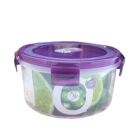 Round Foods Storage Containers 1000ml, Meal Prep Containers 1-Compartiment Lunch Box avec couvercle, BPA sans plastique Bento Box, réutilisable, lave-vaisselle