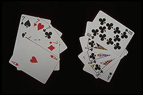 425078 Poker Hand Royal Flush Beats Four Of A Kind A4 Photo Poster Print 10x8