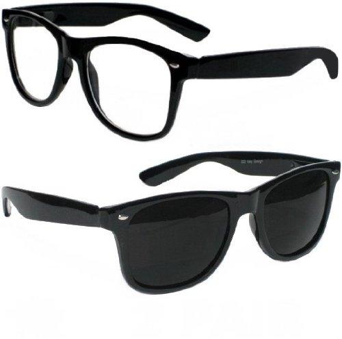 Nerd clear paire de lunettes de soleil style wayfarer retro vintage unisexe au style lunettes atzenbrille différentes couleurs et modèles - - Vintage 8 gonGSMuo,