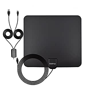 HDTV Antenna 16.5ft Coax Cable with Detachable Amplifier Signal Booster