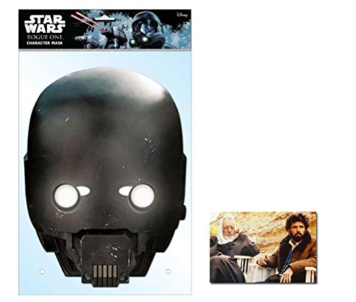 Kostüm Star Promi Wars - K-2SO Star Wars Rogue One Single Karte Partei Gesichtsmasken (Maske) Enthält 6X4 (15X10Cm) starfoto