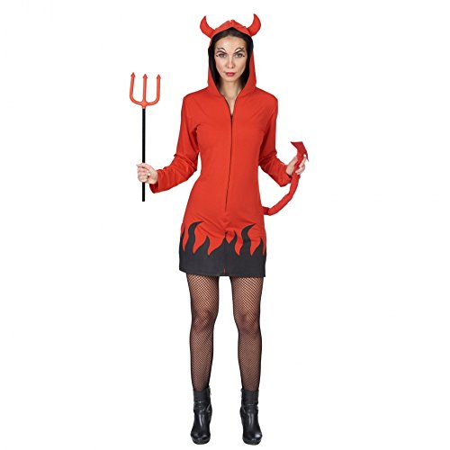 Andrea moden gmbh - costume da diavolo, taglia abito da diavoletto per feste a tema, 36-50