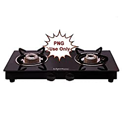 Bright Flame Kitchen Essentials 2 Burner Black Gas Stove (MS) Compact - PNG Customer