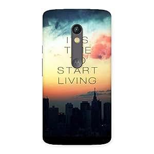 Start Living Back Case Cover for Moto X Play